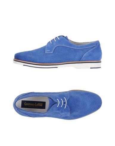 GIANFRANCO LATTANZI Chaussures à lacets homme. effet suédés, sans applications, couleur unie de base, pointe arrondie, doublure e