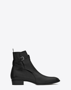 SAINT LAURENT Boots U wyatt 30 jodhpur boot in black leather f