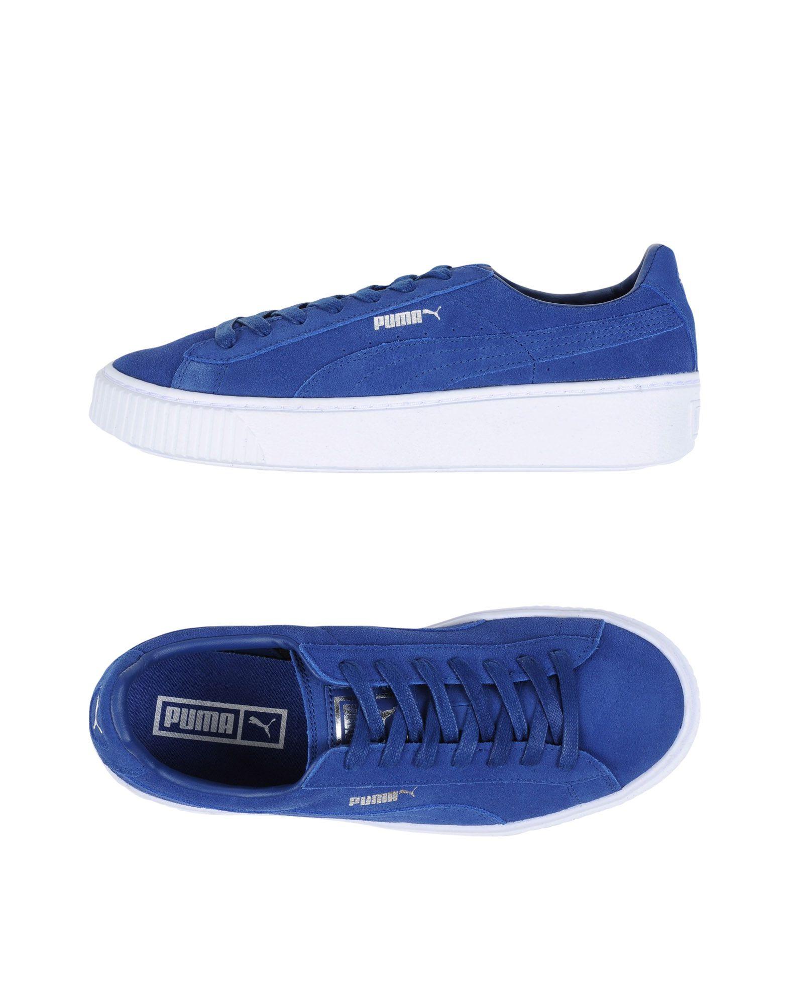 PUMA Damen Low Sneakers & Tennisschuhe Farbe Königsblau Größe 11