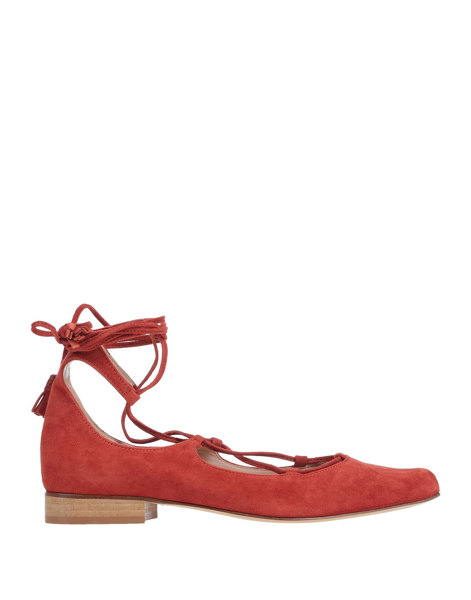 DONDUP Ballet flats. sueded effect, tassels, basic solid colour, wrapping straps closure, narrow toeline, leather lining, leather sole, square heel, contains non-textile parts of animal origin, large sized. Soft Leather