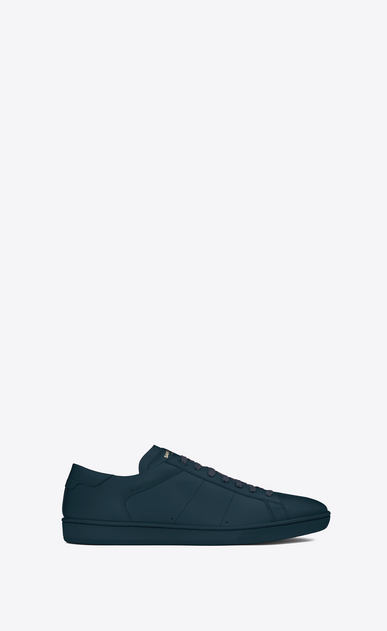 SAINT LAURENT Low Sneakers U sl/01 court classic sneaker in indigo leather a_V4