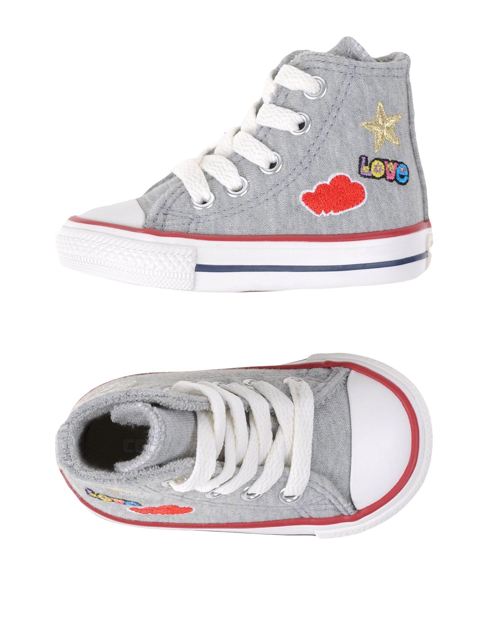 CONVERSE ALL STAR Mädchen 0-24 monate Low Sneakers & Tennisschuhe Farbe Grau Größe 9