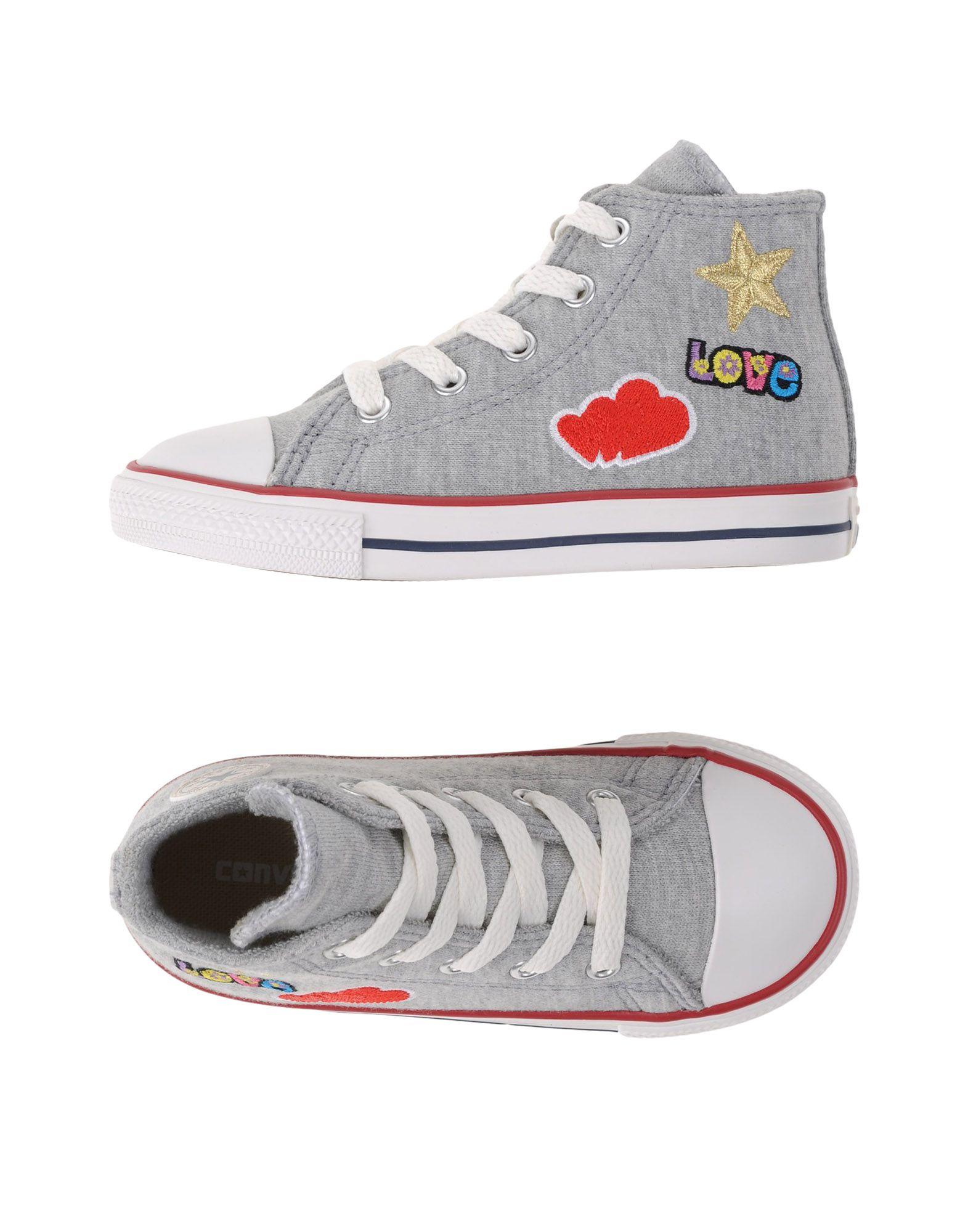 CONVERSE ALL STAR Mädchen 3-8 jahre Low Sneakers & Tennisschuhe Farbe Grau Größe 19