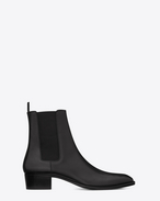 SAINT LAURENT Boots U classic wyatt 40 chelsea boot in black leather f