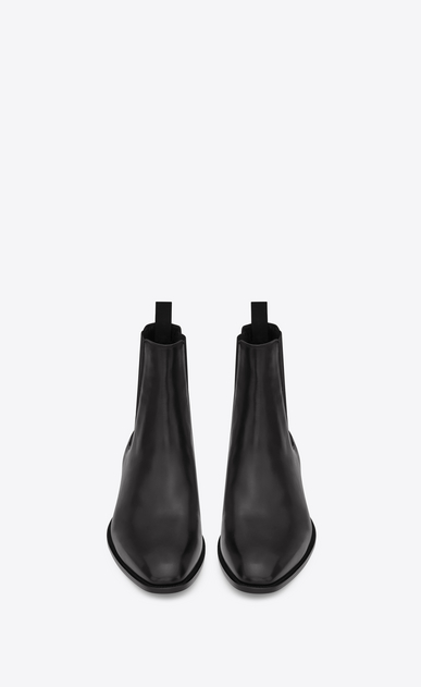 SAINT LAURENT Boots U classic wyatt 40 chelsea boot in black leather b_V4