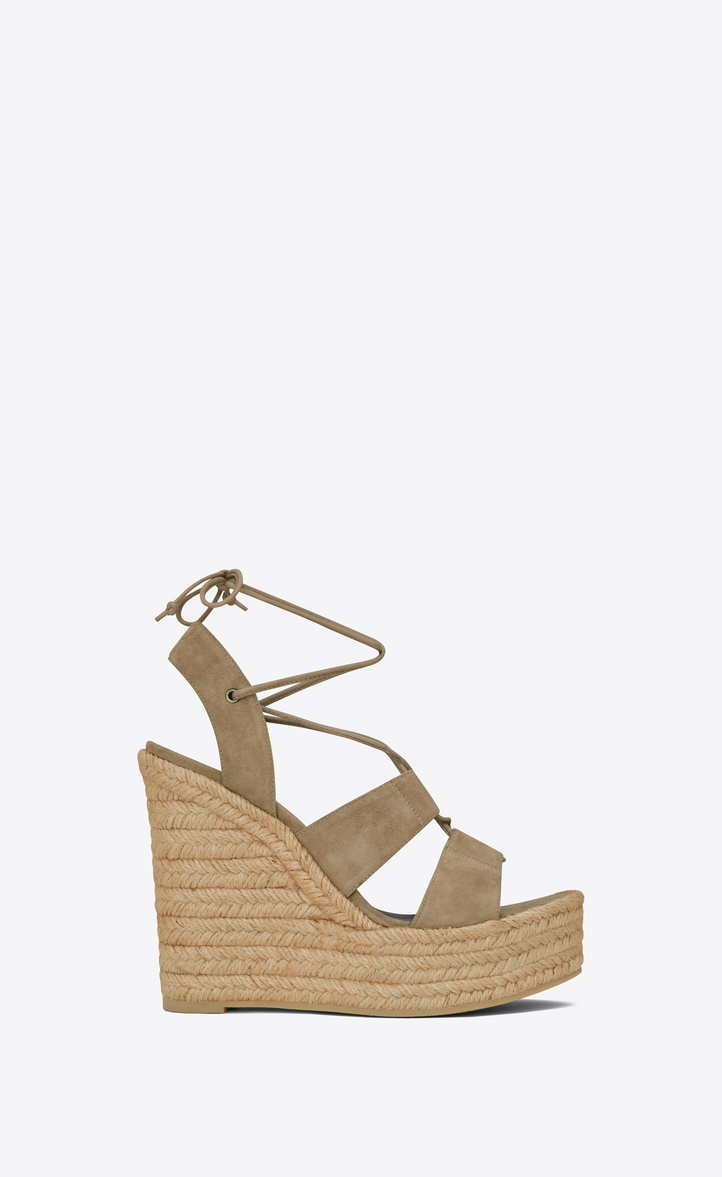 Yves Saint Laurent Tie-Up Platform Wedges free shipping 2014 buy cheap latest collections shipping discount authentic DQVm9f6zF