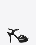 SAINT LAURENT Sandals D Classic TRIBUTE 75 Black and White Leather f