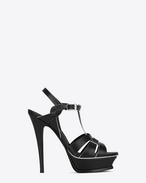 SAINT LAURENT Sandals D Classic TRIBUTE 105 Sandal in Black and White Leather f