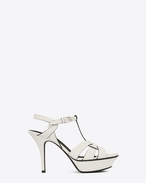 SAINT LAURENT Sandals D Classic TRIBUTE 75 Chalk and Black Leather f