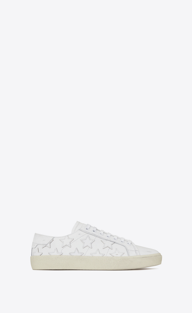 SAINT LAURENT Trainers D Signature COURT CLASSIC SL/06 CALIFORNIA Sneaker in Off White Distressed Leather a_V4