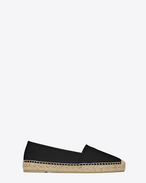 SAINT LAURENT Espadrille D MONOGRAM ESPADRILLE in Black Leather f