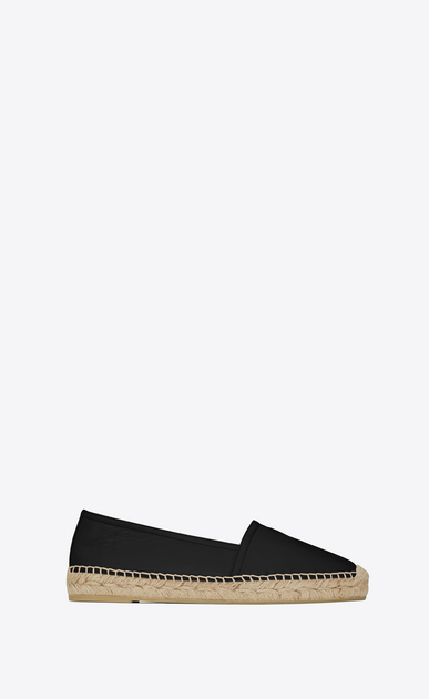SAINT LAURENT Espadrille D MONOGRAM ESPADRILLE in Black Leather a_V4