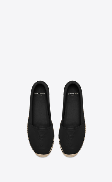 SAINT LAURENT Espadrille D MONOGRAM ESPADRILLE in Black Leather b_V4