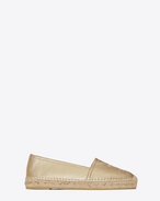SAINT LAURENT Espadrille D MONOGRAM ESPADRILLE in Pale Gold Metallic Leather f