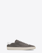SAINT LAURENT SL/06 U Signature COURT CLASSIC SL/06 Sneaker in Clay Grey Suede and Off White Leather f