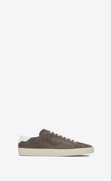 SAINT LAURENT SL/06 U Signature COURT CLASSIC SL/06 Sneaker in Clay Grey Suede and Off White Leather a_V4