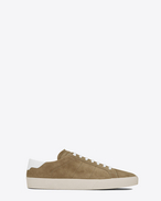SAINT LAURENT SL/06 U Signature COURT CLASSIC SL/06 Sneaker in Light Tobacco Suede and Off White Leather f