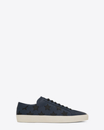 SAINT LAURENT SL/06 U signature court classic sl/06 california sneaker in black and indigo distressed leather f
