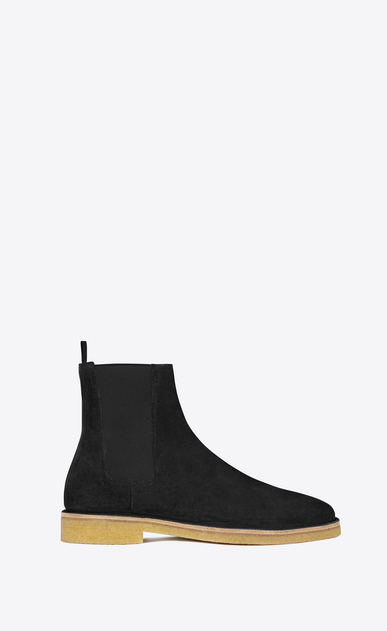 SAINT LAURENT Boots U nevada 20 chelsea boot in black suede a_V4