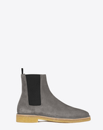 SAINT LAURENT Stiefel U Nevada 20 Chelsea-Boot aus tongrauem Veloursleder f