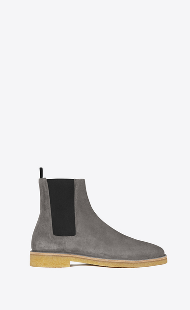SAINT LAURENT Stiefel U Nevada 20 Chelsea-Boot aus tongrauem Veloursleder a_V4