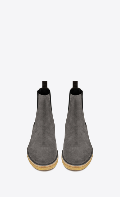 SAINT LAURENT Stiefel U Nevada 20 Chelsea-Boot aus tongrauem Veloursleder b_V4