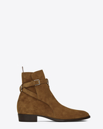 SAINT LAURENT Stiefel U Signature WYATT 30 Jodhpur Boot in Cognac Suede f