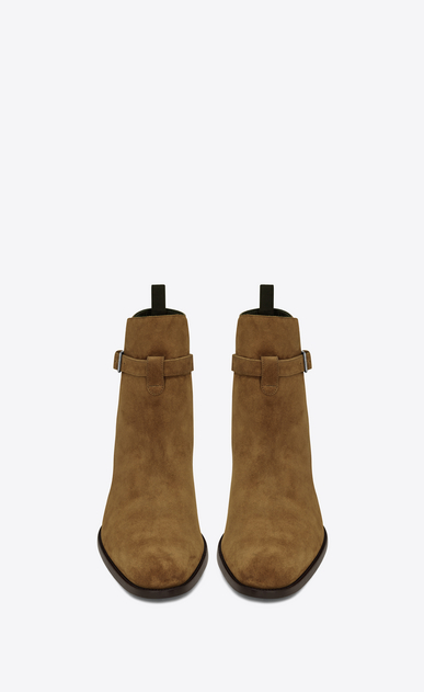 SAINT LAURENT Boots U Signature WYATT 30 Jodhpur Boot in Cognac Suede b_V4