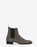 SAINT LAURENT Stiefel U Classic WYATT 30 Chelsea Boot in Clay Grey Suede f