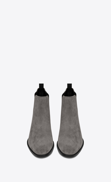SAINT LAURENT Boots Man Classic WYATT 30 Chelsea Boot in Clay Grey Suede b_V4