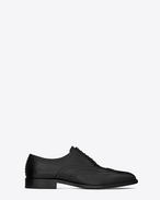 SAINT LAURENT Classic Shoes U DYLAN 20 Richelieu Studded Shoe in Black Leather and Matte Black Metal f
