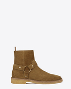 SAINT LAURENT Boots U NEVADA 20 Harness Boot in Tan Suede f