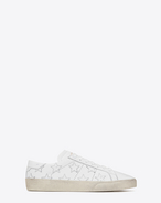 SAINT LAURENT SL/06 U Signature COURT CLASSIC SL/06 CALIFORNIA Sneaker in Off White Distressed Leather f