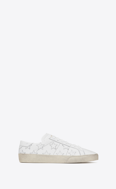 SAINT LAURENT SL/06 U Signature COURT CLASSIC SL/06 CALIFORNIA Sneaker in Off White Distressed Leather a_V4