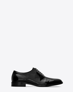 SAINT LAURENT Classic Shoes U DYLAN 20 Richelieu Shoe in Black Patent Leather f