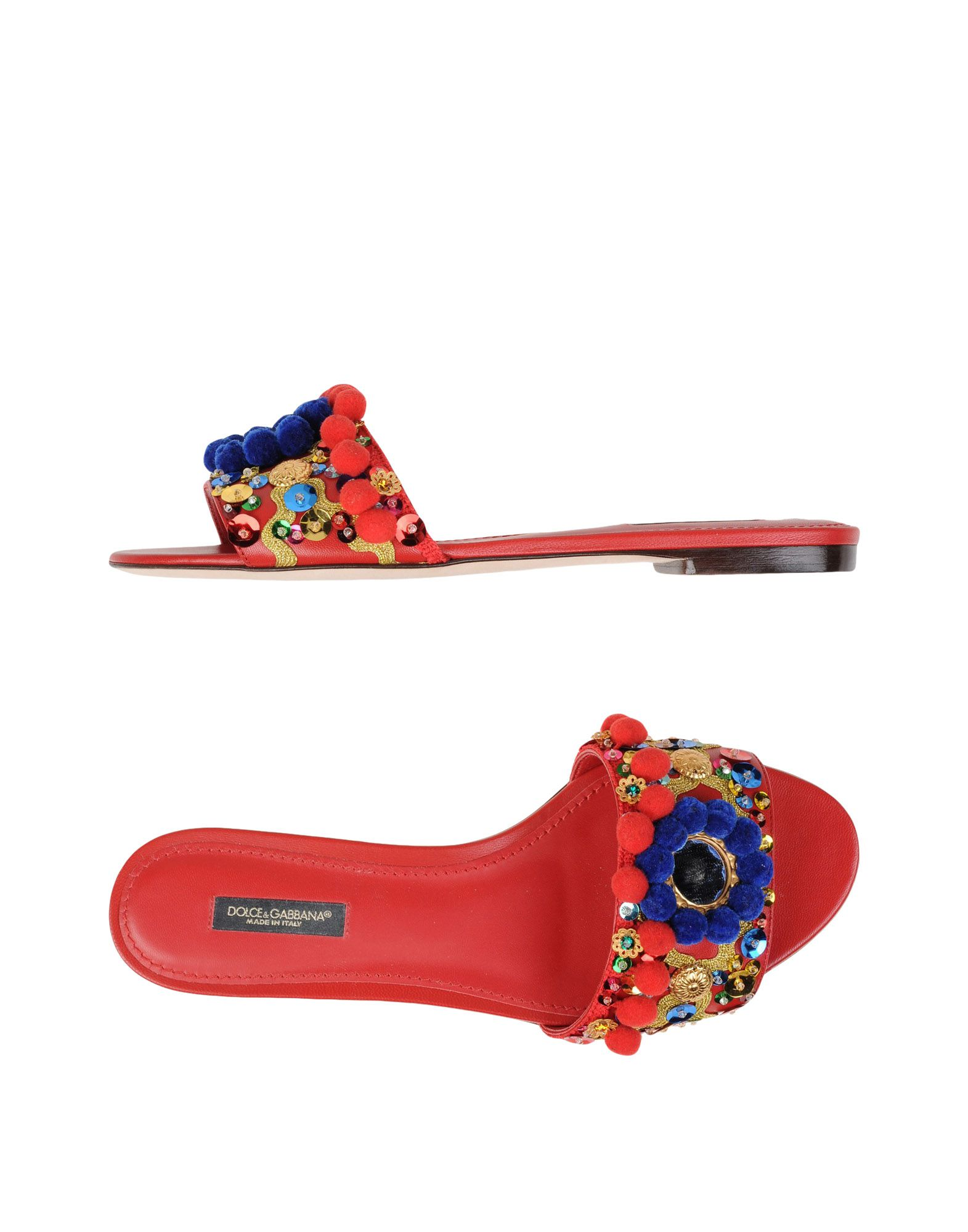 DOLCE & GABBANA Damen Sandale Farbe Rot Größe 5