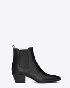 SAINT LAURENT Flache Stiefeletten D rock 40 ankle boot in black leather f