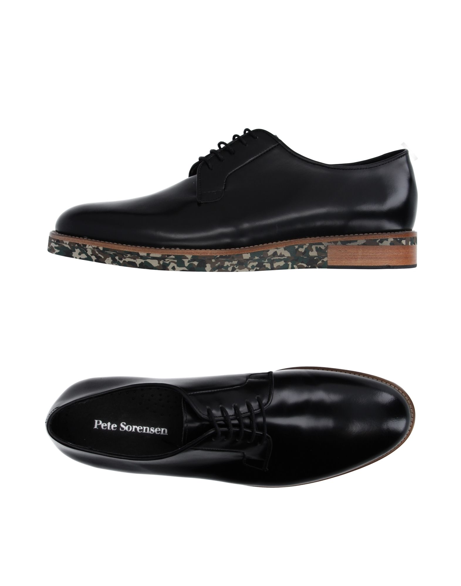 PETE SORENSEN Laced Shoes in Black