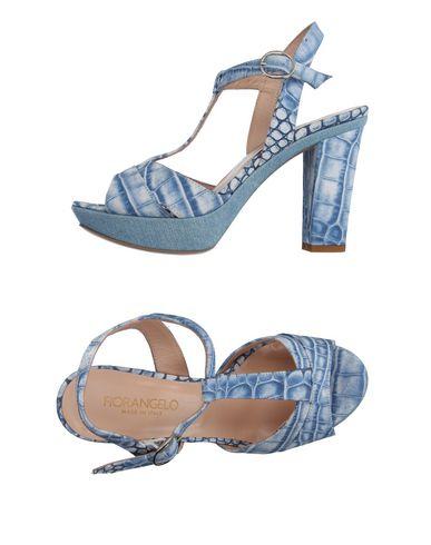 Купить Женские сандали  пастельно-синего цвета