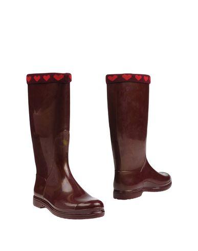 Фото - Женские сапоги  красно-коричневого цвета