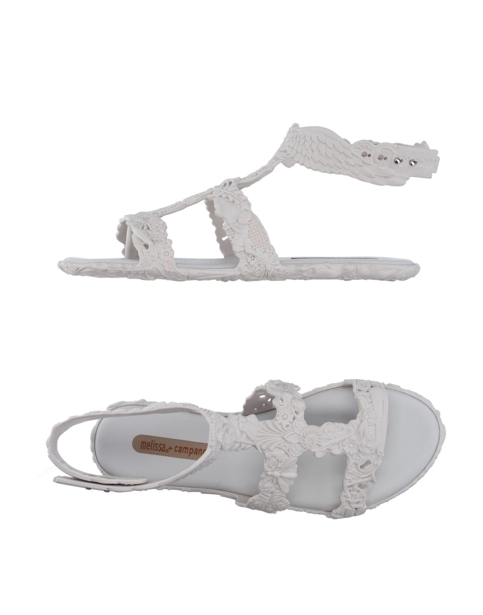 MELISSA + CAMPANA Damen Zehentrenner Farbe Weiß Größe 3