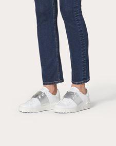 Open Sneaker with Metallic Stripe