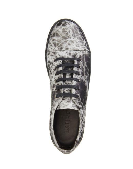lanvin dbb1 rubber calfskin sneaker  men