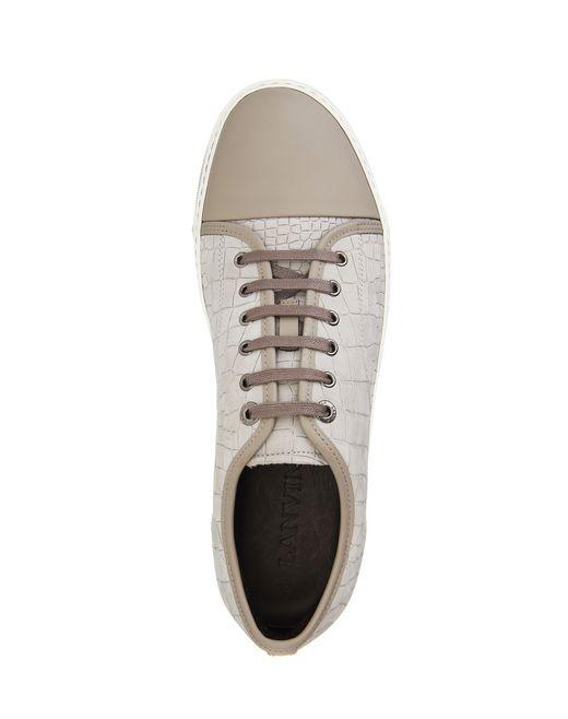 lanvin dbb1 embossed calfskin sneaker  men