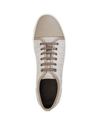 LANVIN DBB1 EMBOSSED CALFSKIN SNEAKER Sneakers U r