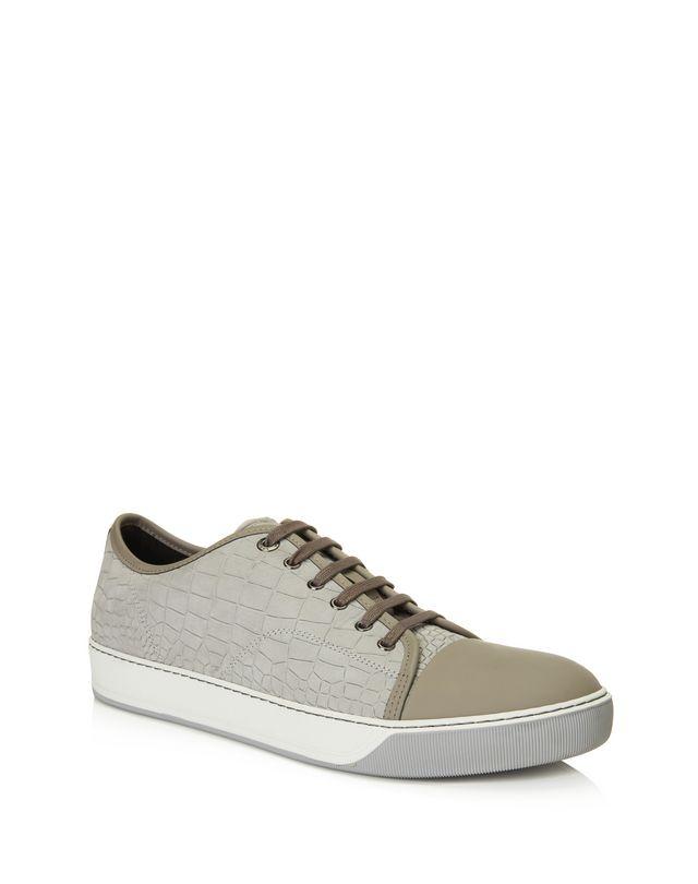 LANVIN DBB1 EMBOSSED CALFSKIN SNEAKER Sneakers U f
