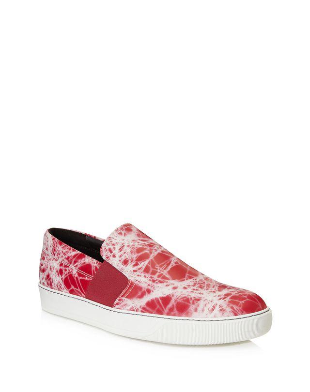 LANVIN MARBLED SLIP-ON SNEAKER Sneakers U f
