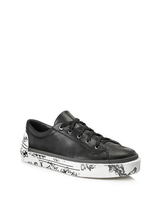 lanvin derby-sneakers aus vulkanisiertem kalbsnappaleder für-ihn
