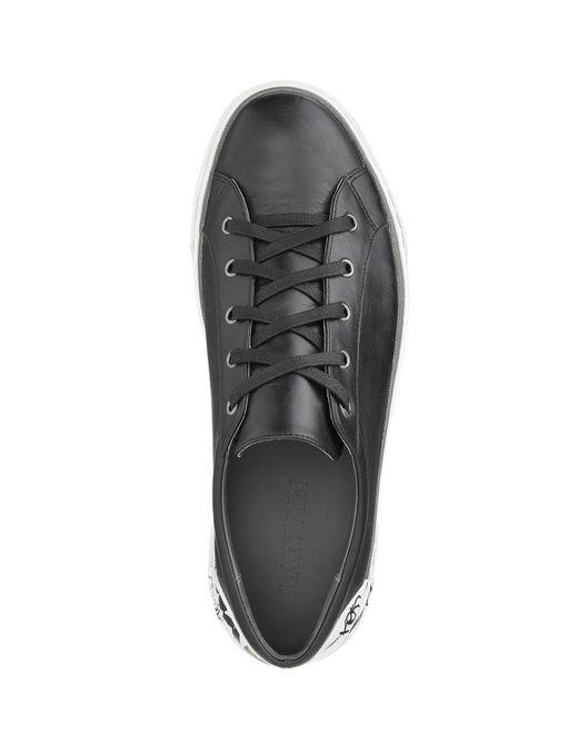 lanvin vulcanized nappa calfskin derby sneaker men