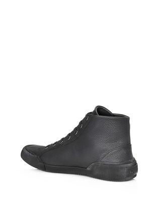 LANVIN VULCANIZED GRAINED CALFSKIN MID TOP SNEAKER Sneakers U d